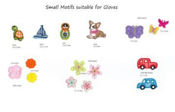 Small motifs suitable for gloves